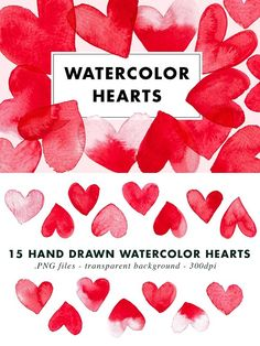 15 Watercolor Heart illustration EPS by Heartmade by Claudia on Heart Illustration, Pencil Illustration, Graphic Illustration, Watercolor Illustration, Watercolor Heart, Watercolor And Ink, Watercolor Wedding, Coding Websites, Heart Hands Drawing
