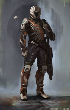 Sci-fi Concept Art - futuristic cyborg soldier in battle armor Star Citizen, Cosplay Star Wars, Character Concept, Character Art, Soldado Universal, Chasseur De Primes, Art Du Monde, Futuristic Armour, Space Fantasy