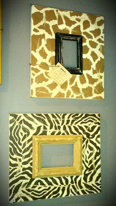 DIY safari frames for the girls' room