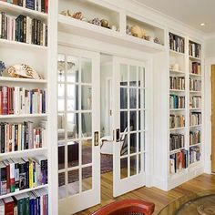 Who needs walls when you can have bookshelves?
