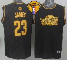 c3eab721f21 Cavaliers LeBron James Black Precious Metals Fashion The Finals Patch Stitched  NBA Jersey