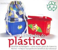 Artesanato e Idéias: Reciclando Potes de Sorvete