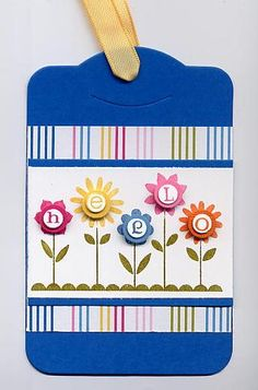 Hello Blossoms gift tag by Julie Bug - Cards and Paper Crafts at Splitcoaststampers