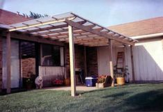 Fairly simple & inexpensive deck roof.