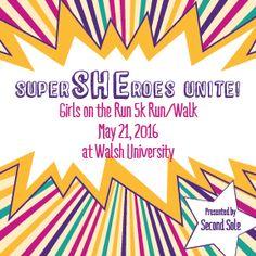 SuperSHEroes Unite! Girls on the Run 5k Run/Walk on May 21, 2016