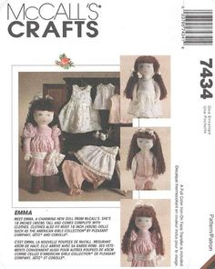McCall's 7434 Emma Doll and Clothes Pattern