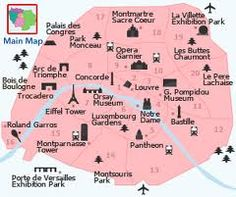 """I gave this map to my kids on our first trip to Paris """"which side of the Seine are we on?"""""""