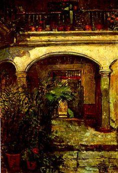 Federico Brandt, Patio de la casa de los López Méndez, 1916.