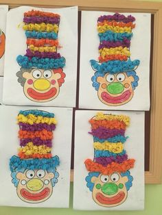 Clown, crafts - Crafts for Teens Kindergarten Crafts, Preschool Crafts, Diy Crafts For Kids, Art For Kids, Arts And Crafts, Clown Crafts, Circus Crafts, Carnival Crafts, Theme Carnaval
