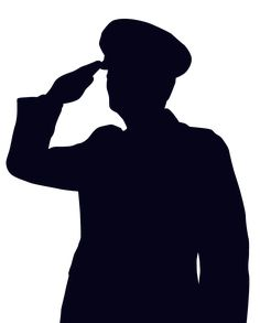 woman soldier salute silhouette - Google Search