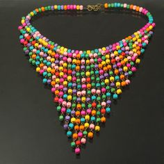 Buy vogue bohemian collar style wood beads decorated neck necklace jewelry(colorful) online from China manufacturer. Pendant Jewelry, Jewelry Art, Beaded Jewelry, Handmade Necklaces, Handcrafted Jewelry, Bead Embroidery Jewelry, Wire Wrapped Necklace, Bohemian Necklace, African Jewelry
