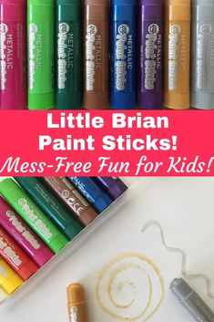Easy Peasy Painting with Little Brian Paint Sticks! Fun Crafts For Kids, Toddler Crafts, Kid Crafts, All Themes, Painted Sticks, Free Fun, Creative Play, Drawing For Kids, Easy Peasy