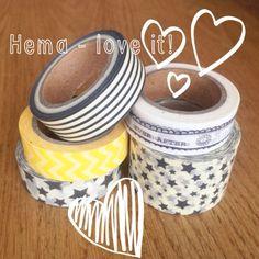 Hema washi tape Jip by Jan - Love the new Hema washi tape collection