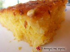 Greek Sweets, Greek Desserts, Party Desserts, Lemon Recipes, Greek Recipes, Desert Recipes, Greek Cake, Greek Pastries, Syrup Cake