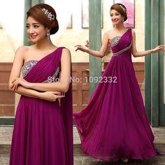 2014 one shoulder formal dress plus size  evening dress banquet evening dress long design fashion sexy free shipping