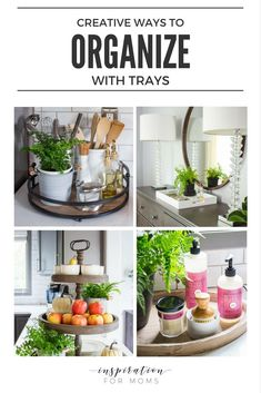 Learn how to keep your home pretty and functional at the same time. See my favorite ways to organize with trays. Home organization never looked so good!