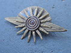 Vintage Brass Rising Sun Brooch by ItsSimplyMe on Etsy