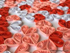 Hearts Red Pink White Table Confetti Dinner Ornaments Valentines Mothers Day Baby Bridal Shower Wedding Gift Scatter Paper Quilling Art