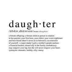 Daughter Definition daughter typography definition print | Etsy Typography Definition, Definition Quotes, Mother Daughter Tattoos, Tattoos For Daughters, Password Printable, Pink Wall Art, Marketing And Advertising, Girl Gifts, Photos