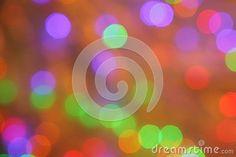 Christmas Orange Purple Green Red Blur Background