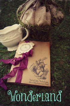 Another one https://www.etsy.com/listing/160724640/alice-in-wonderland-invitations-bridal