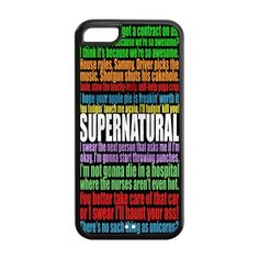 Funny SPN Supernatural Quotes Hard Rubber Cell Cover Case for iPhone 5C,5C Phone Cases:Amazon:Cell Phones & Accessories