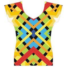 Starette Monica Bold Vivid Color Flash Women's V-Neck Cap Sleeve Top #CircusValley