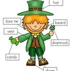 3+ways+to+label+Liam+Leprechaun: -+cut+and+paste+written+labels+on+top+of+words;+ -+cut+and+paste+written+labels+on+blank+labels;+ -+or+write+the+w...