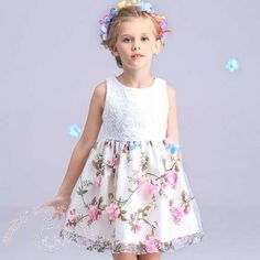 Summer Elegant 3D White #Floral #Party #Dress