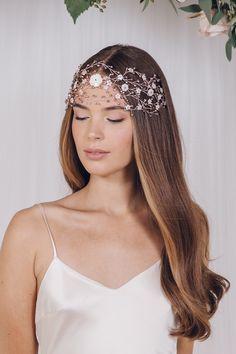 Declaração boêmio entrelaçados hairvine casamento tecido - Katya
