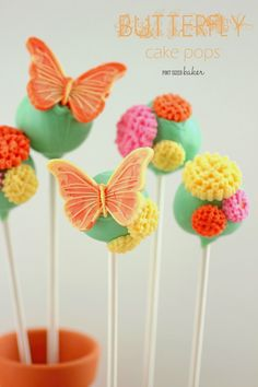 Pint Sized Baker: Butterfly Cake Pop Tutorial. Perfect for a kid's Spring Party!