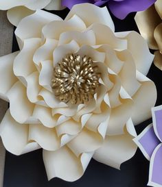 Paper flower pattern paper flower template ONLY. DIY paper