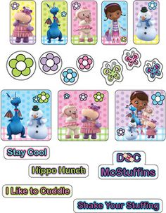 Stickers 2, Doc McStuffins, Stickers - Free Printable Ideas from Family Shoppingbag.com