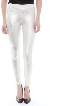 David Lerner Yoke Leggings in White Gold on shopstyle.com.au