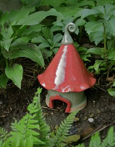 Fairy Tale Toad House Fairy Gnome by ClaySoul on Etsy, $45.00