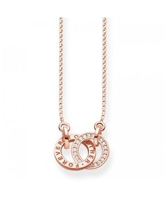 Thomas Sabo Rose Gold Forever Together Necklace UK Thomas Sabo, Gold Necklace, Rose Gold, Charmed, Bracelets, Earrings, Jewelry, Ear Rings, Schmuck