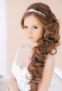 Yandan Toplu Gelin Saçı Modelleri - Gelin Saçı Modelleri