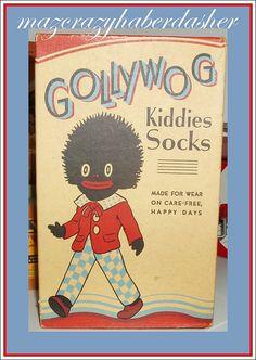 Golliwog Sock Box by mazcrazyhaberdasher Vintage Prints, Vintage Toys, Vintage Posters, Childhood Images, Childhood Memories, Vintage Packaging, Vintage Labels, Art Deco Posters, Food Posters