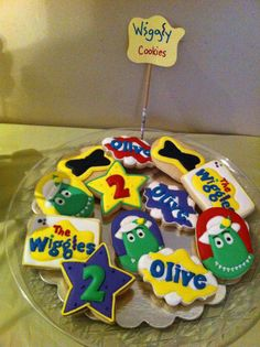 Wiggles Cookies! More Wiggles Birthday, Wiggles Party, Twin Birthday, Baby First Birthday, Birthday Fun, First Birthday Parties, First Birthdays, Birthday Ideas, Wiggles Cake