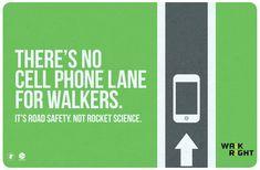 En búsqueda de acciones/intervenciones enfocadas a reducir muertes de peatones provocadas por automovilistas irresponsables (yo también me incluyo) que se distraen con los teléfonos celulares.