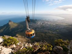 Cape Town, South Africa: The whole world witnessed Cape Town's beauty first hand during the 2010 World Cup: its penguin-populated, white-sand beaches within a few short miles of majestic Table Mountain, and rolling winelands just outside the city. Best Places To Travel, Best Cities, Places To See, Lonely Planet, Le Cap, Table Mountain, Mountain City, Mountain Sunset, Most Beautiful Cities