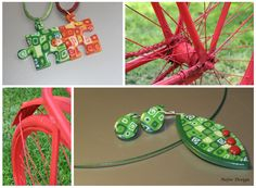 Green and red polymer clay