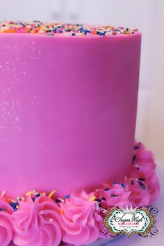 Beautiful pink buttercream . . . for the unabashedly girly!