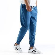 Sale 21% (20.19$) - Summer Men\'s Casual Harlan Linen Nine Minutes Of Pants Leisure Loose Slacks Pants