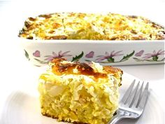 The Most Decadent Cornbread Casserole Ever, Made Skinny with Weight Watchers Points | Skinny Kitchen 5 point plus for 1 slice