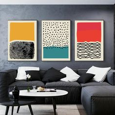 Feb 2020 - Fingerprint Abstract Wall Art Nordic Style Colorful Fine Art Canvas Prints Works Of Art For Office Living Room Modern Home Interior Decor Modern Canvas Art, Modern Art Prints, Modern Wall Art, Living Room Modern, Canvas Wall Art, Canvas Prints, 3 Canvas Painting Ideas, Modern Paintings, Modern Artwork