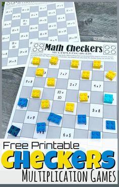 Multiplication Games For Kids, Math Games For Kids, Multiplication Tables, Measurement Activities, Maths, Fun Classroom Games, Math Board Games, Printable Math Games, Math Drills