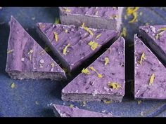 Blueberry & Lemon Fudge with creamed coconut (4 ingredients) – Trinity's Conscious Kitchen