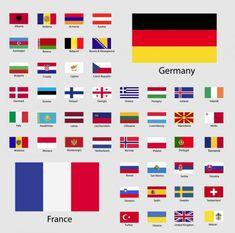 Bandeiras da união europeia. Ilustração vetorial. — Ilustração de Stock