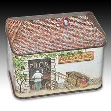 """Vintage French House Shaped Hinged Tin """"Blacksmith's Sadlery"""""""